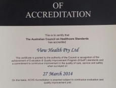Accreditation with ACHS – 27th March 2014