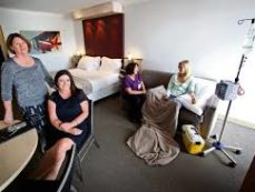 chemo@home in a HOTEL! As seen on Channel 7 news!